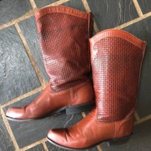Vintage Tony Lama Women's Brown Cowgirl Boot 6M